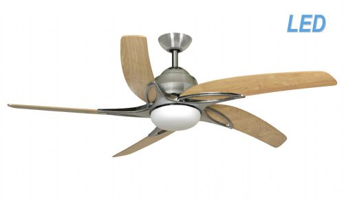"Fantasia Viper 54"" Stainless Steel Ceiling Fan + Remote Control +  LED Light 115687"